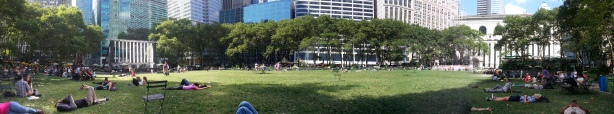 Panorama of Bryant Park