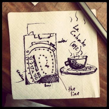 Drawing on napkins in some of New York's finest coffee shops