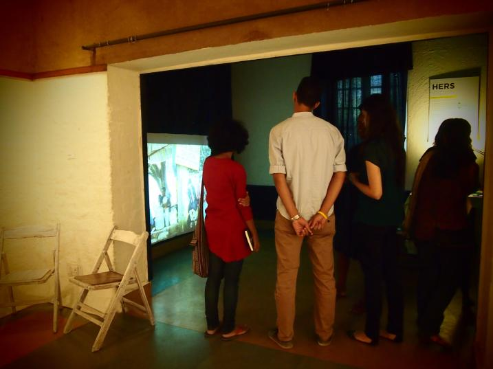 Guests viewing our public art project titled 'Adda-Baazi'