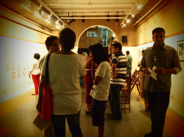 Guests at the HERS exhibition