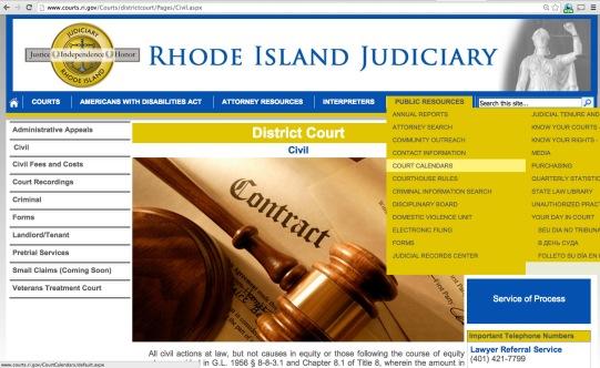 court website