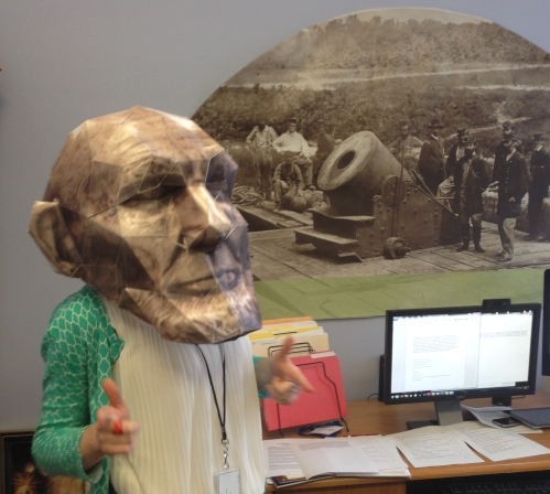 One of the ibook activities involves re-creating Lincoln's life mask using the 3D scan data and paper-craft.