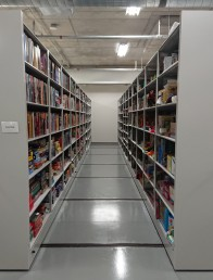 One of the many rows in the vault!